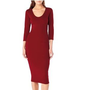 Michael Stars midi ruched dress